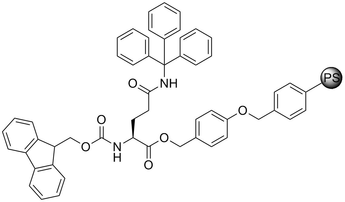 Fmoc-L-Gln(Trt)-Wang resin