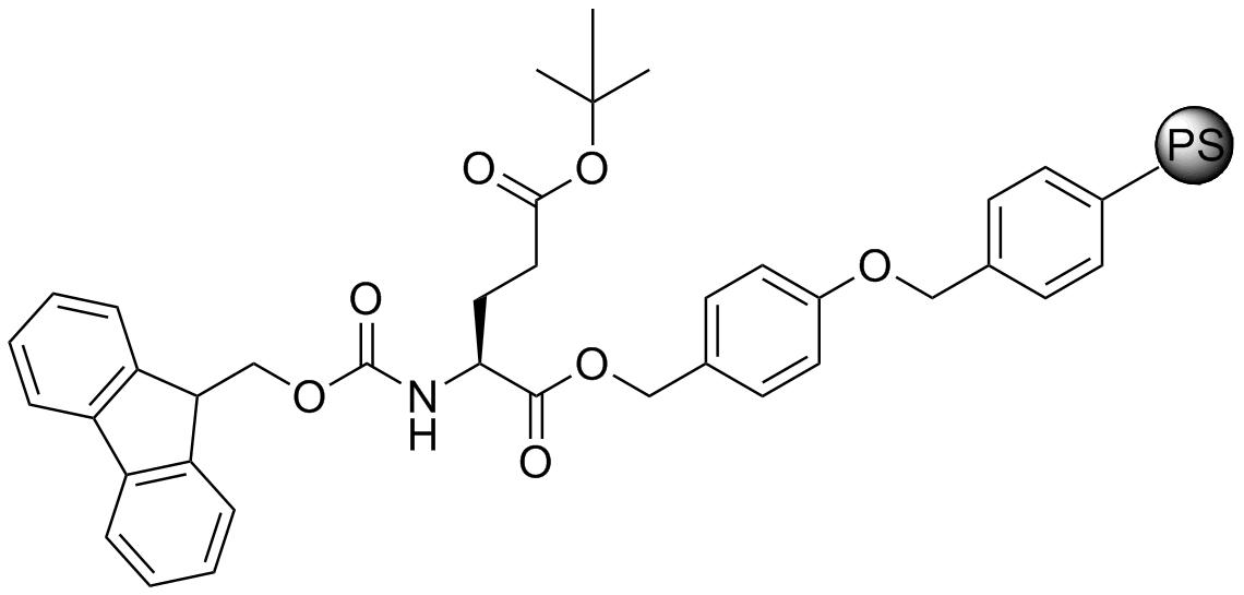 Fmoc-L-Glu(OtBu)-Wang resin