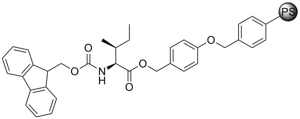 Fmoc-L-Ile-Wang resin