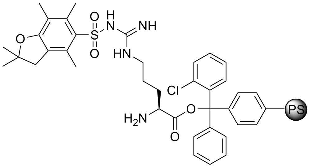 H-L-Arg(Pbf)-2-Cl-Trityl resin