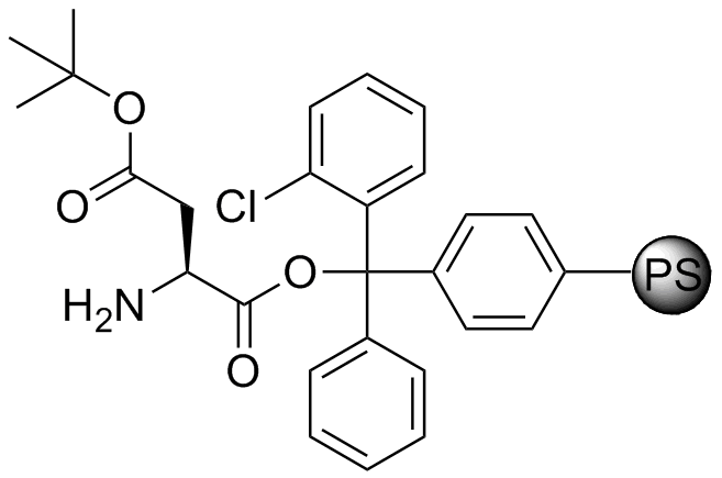 H-L-Asp(OtBu)-2-Cl-Trityl resin