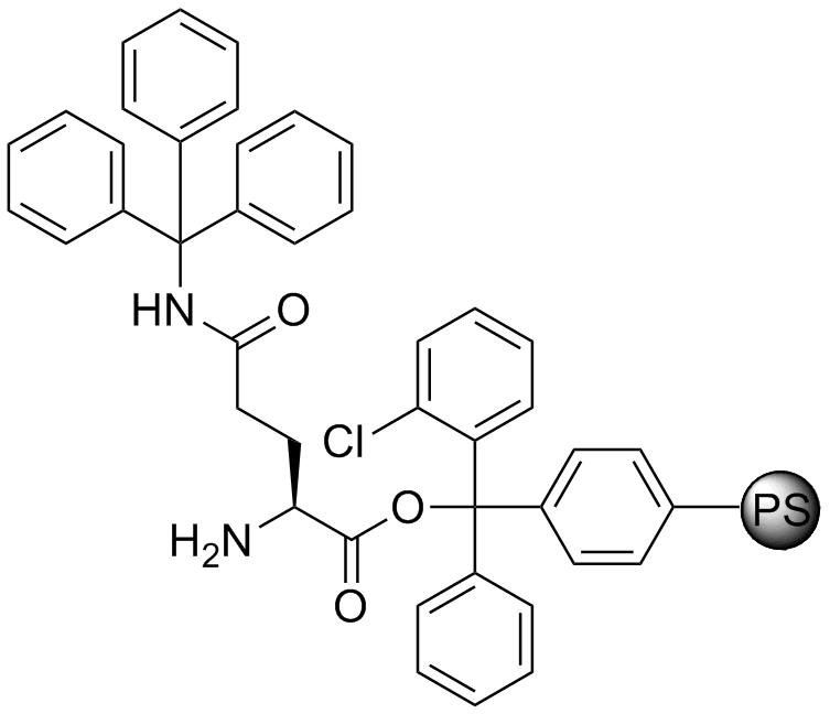 H-L-Gln(Trt)-2-Cl-Trityl resin