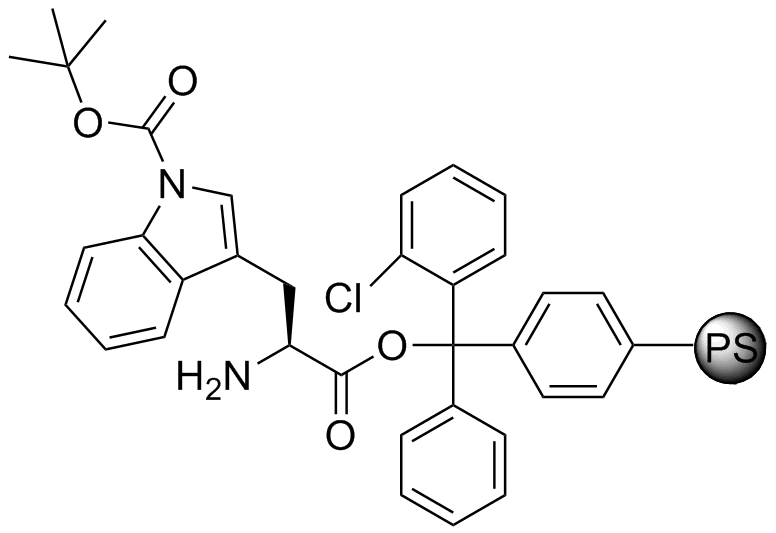 H-L-Trp(Boc)-2-Cl-Trityl resin