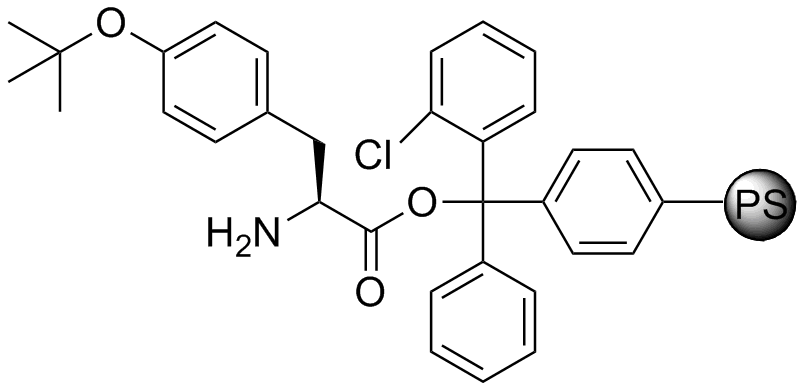 H-L-Tyr(tBu)-2-Cl-Trityl resin