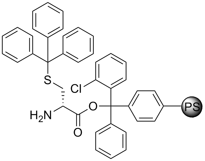 H-D-Cys(Trt)-2-Cl-Trityl resin